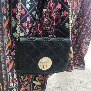 Kate Spade Black Leather Quilted Crossbody